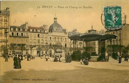 """CPA FRANCE 29 """"Brest, Place du Champ de Bataille"""""""