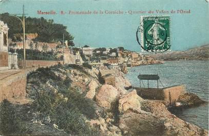 """CPA  """"Marseille, promenade de la corniche, Quartier du Vallon de l'Oriol"""""""