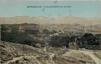 """CPA  """"Marseille, vue générale sur les Iles"""""""