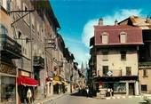 """04 Alpe De Haute Provence / CPSM FRANCE 04 """"Barcelonette, la rue Manuel """" / COMMERCE"""