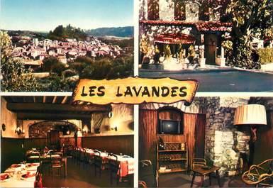 """/ CPSM FRANCE 04 """"Forcalquier, Les Lavandes, hôtel restaurant"""""""