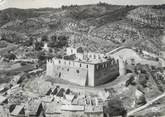 """04 Alpe De Haute Provence / CPSM FRANCE 04 """"Gréoux Les Bains, vue aérienne sur le château des Templiers"""""""