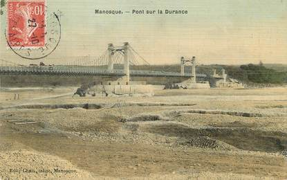 "/ CPA FRANCE 04 ""Manosque, pont sur la Durance"""