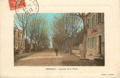 """CPA FRANCE 13 """"Raphele, avenue et la poste"""""""