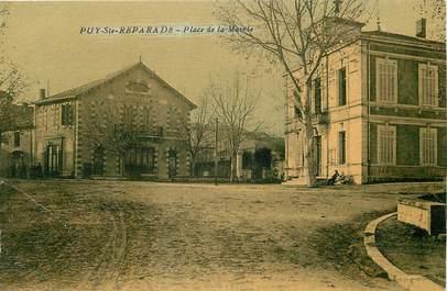 """CPA FRANCE 13 """"Puy Sainte Reparade, Place de la Mairie"""""""