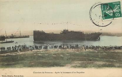 """CPA FRANCE 13 """"Port de Bouc, chantier naval"""""""