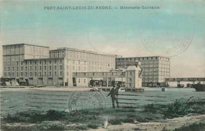 """CPA FRANCE 13 """"Port Saint Louis du Rhône, Minoterie Gauthier"""""""