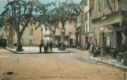 """CPA FRANCE 13 """"Marignane, Place Camille Desmoulin"""""""