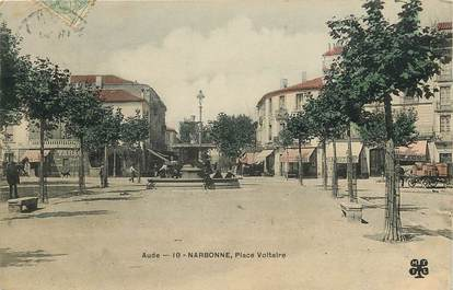 "CPA FRANCE 11 ""Narbonne, Place Voltaire"""