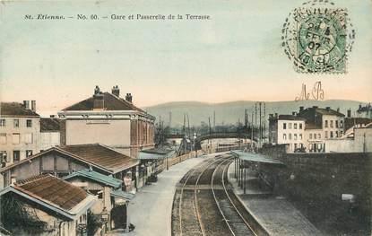 """CPA FRANCE 42 """"Saint Etienne, la gare"""""""