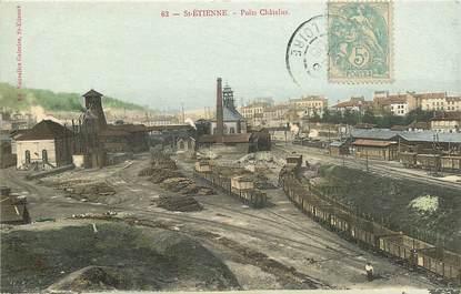 """CPA FRANCE 42 """"Saint Etienne, puits Châtelus"""""""