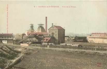 """CPA FRANCE 42 """"Houillères de Saint Etienne, Puits de la Pompe"""" / MINE"""