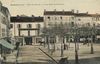 """CPA FRANCE 42 """"Roanne, Place du Marché"""""""