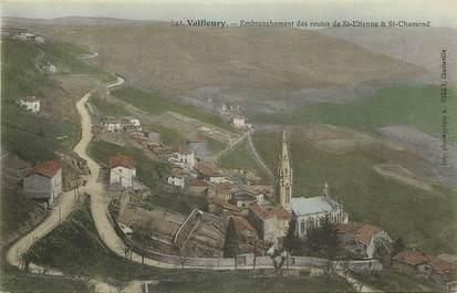 """CPA FRANCE 42 """"Valfleury, embranchement des routes de Saint Etienne et Saint Chamond"""""""