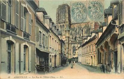 "CPA FRANCE 80 ""Abbeville, rue de l'Hotel Dieu"""