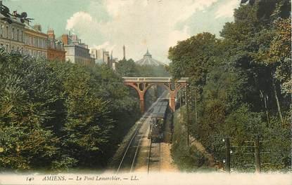 """CPA FRANCE 80 """"Amiens, le pont Lemerchier"""" / TRAIN"""