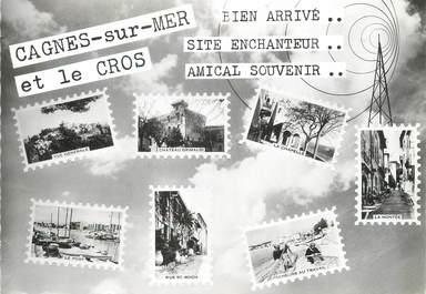 """/ CPSM FRANCE 06 """"Cagnes sur Mer, et le cros"""""""