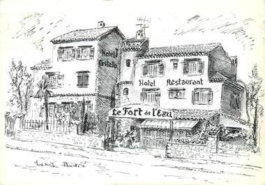"""/ CPSM FRANCE 06 """"Cros de Cagnes, restaurant Le Fort de l'Eau"""""""