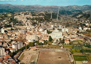 """/ CPSM FRANCE 06 """"Cagnes, vue panoramique """" / STADE"""