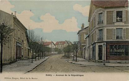 "CPA FRANCE 77 ""Esbly, avenue de la République"""
