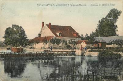 "CPA FRANCE 77 ""Fromonville Moncourt, barrage du Moulin Rouge"""