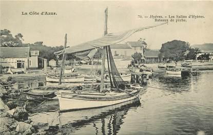 """CPA FRANCE 83 """"Hyères, bateaux de pêche"""""""