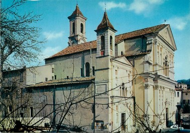 """/ CPSM FRANCE 06 """"L'Escarène, l'église"""""""