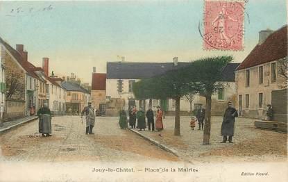 """CPA FRANCE 77 """"Jouy le châtel, place de la mairie"""""""