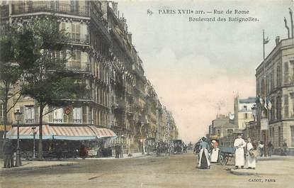 """CPA """"Paris, XVII ème,  Rue de Rome et bld des Batignolles"""""""