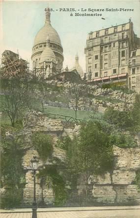 """CPA  """"Paris, XVIII ème,  Square Saint Pierre à Montmartre"""""""