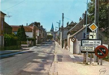 """/ CPSM FRANCE 77 """"Bray sur Seine, entrée du Bray par la route de Nogent"""""""