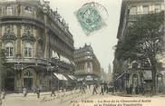 """75 Pari CPA FRANCE 75002 """"Paris, la rue de la Chaussée d'Antin et le Théâtre du Vaudeville"""""""