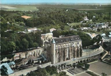 "/ CPSM FRANCE 77 ""Château Landon, l'ancienne abbaye Saint Séverin"""