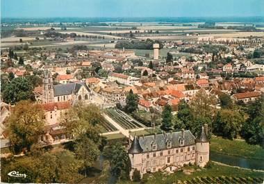 """/ CPSM FRANCE 77 """"Fontenay Tresigny, vue générale  aérienne"""""""