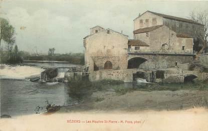 """CPA FRANCE 34 """"Béziers, les moulins Saint Pierre"""""""