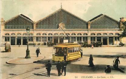 "CPA FRANCE 45 ""Orléans, la gare"""