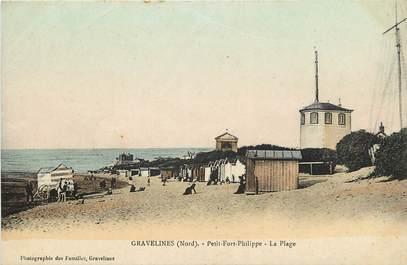 "CPA FRANCE 59 ""Gravelines, petit Fort Philippe, la plage"""