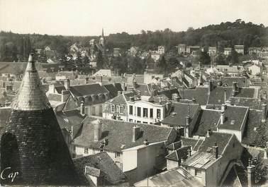 """/ CPSM FRANCE 77 """"Nemours, panorama sur l'église Saint Pierre"""""""