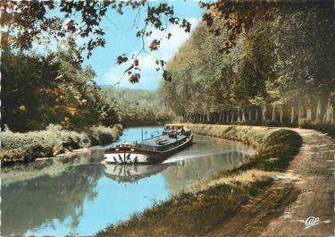 "/ CPSM FRANCE 77 ""Nemours, canal du Loing"""
