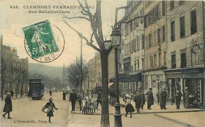 """CPA FRANCE 63 """"Clermont Ferrand, rue Ballainvilliers"""""""