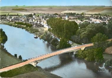 """/ CPSM FRANCE 77 """"Ury, le pont et le camping"""""""