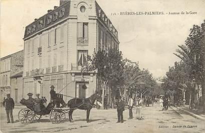 """CPA FRANCE 83 """"Hyères, avenue de la gare"""""""