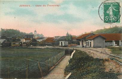 "CPA FRANCE 70 ""Jussey, gare du tramway"""