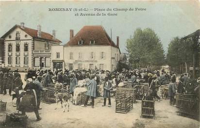 """CPA FRANCE 71 """"Romenay, place du champ de foire"""""""