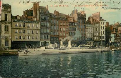 """CPA FRANCE 76 """"Le Havre, un torpilleur dans l'avant port"""""""