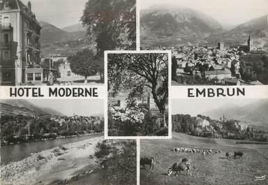 """/ CPSM FRANCE 05 """"Embrun, hôtel Moderne"""""""
