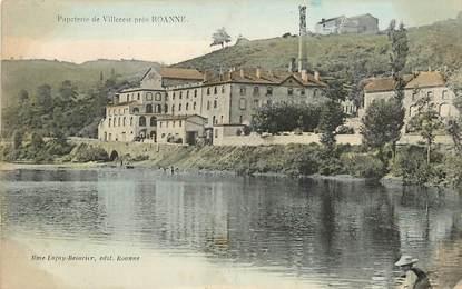 """CPA FRANCE 42 """"Papeterie de Villerest près Roanne"""""""
