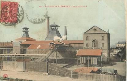 """CPA FRANCE 42 """"Houillères de Saint Etienne, Puits du Treuil"""" / MINE"""