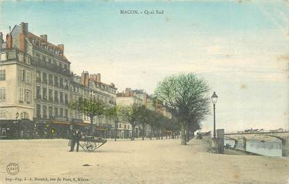 "CPA FRANCE 71 ""Mâcon, quai sud"""