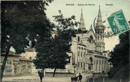 """CPA FRANCE 71 """"Mâcon, Eglise Saint Pierre"""""""
